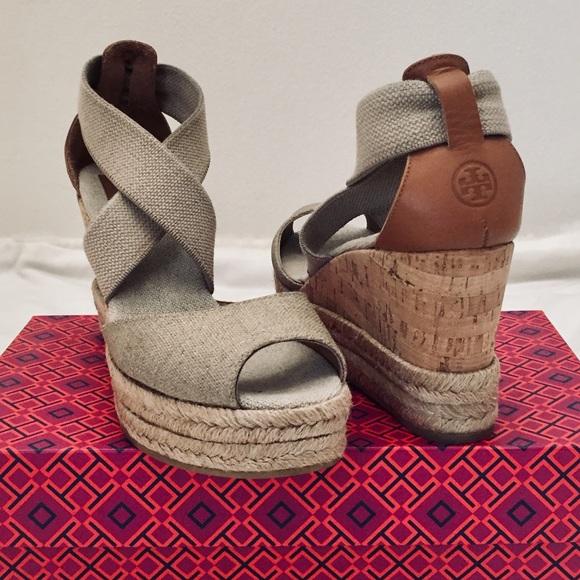 e7bc3118f3 Tory Burch Peep Toe Cork Wedge Sandals. M_5ac5009236b9de6a984effe7